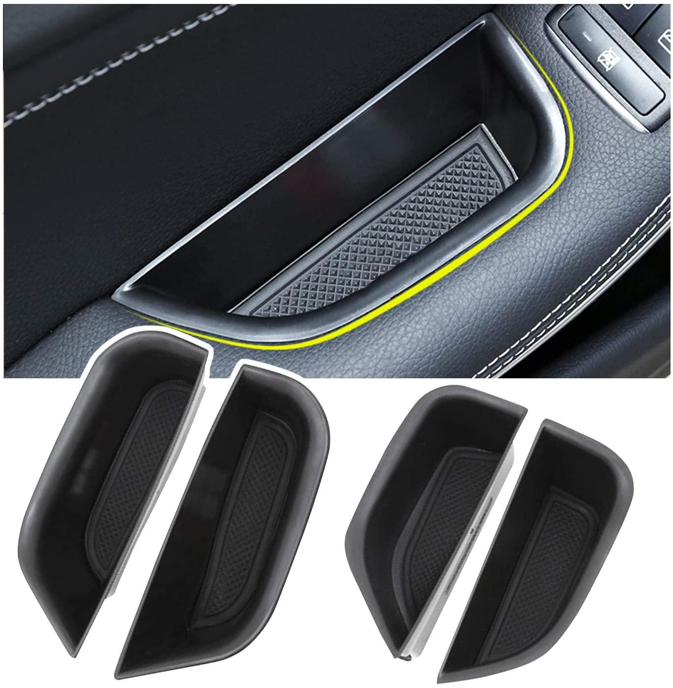 YEE PIN Grab Handle Tray Passenger Organizer Tray Automotive Grab Handles Storage Box for 2014-2019 Mercedes-Benz GLA-Class X156 CLA-Class W117 4-Door, Interior Accessories