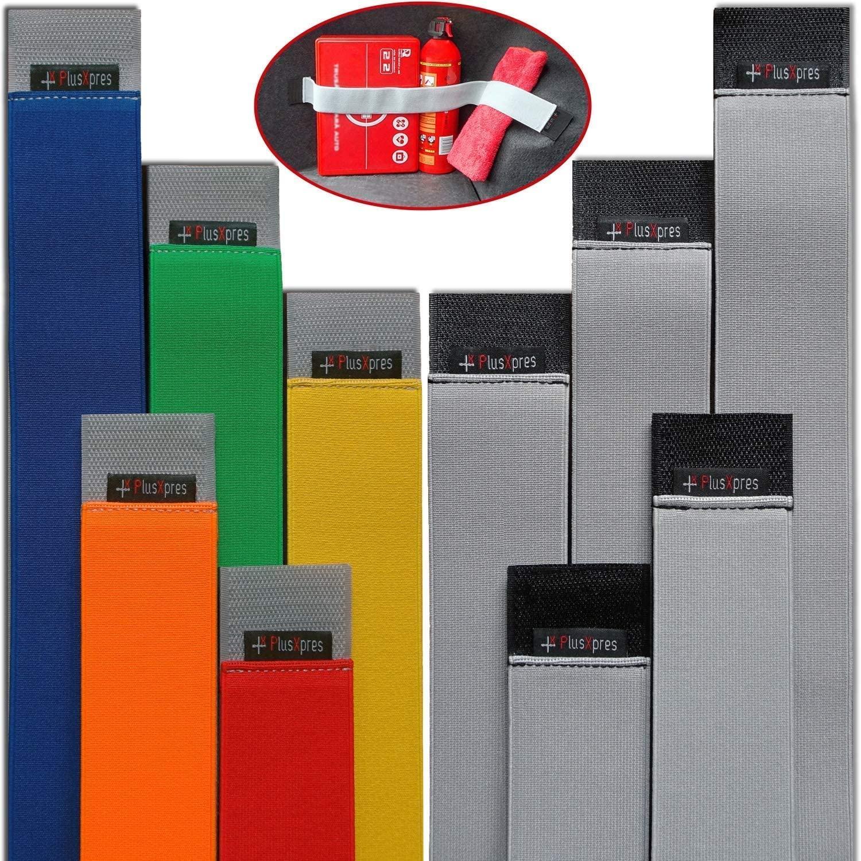 Universal Car Trunk Elastic Strap Belt - Cargo Storage Organizer Fixed Straps - Auto Hook & Loop Fastener - Automotive Storage Holder Belt - Vehicle Interior Organization made easy - 10 PACK BUNDLE
