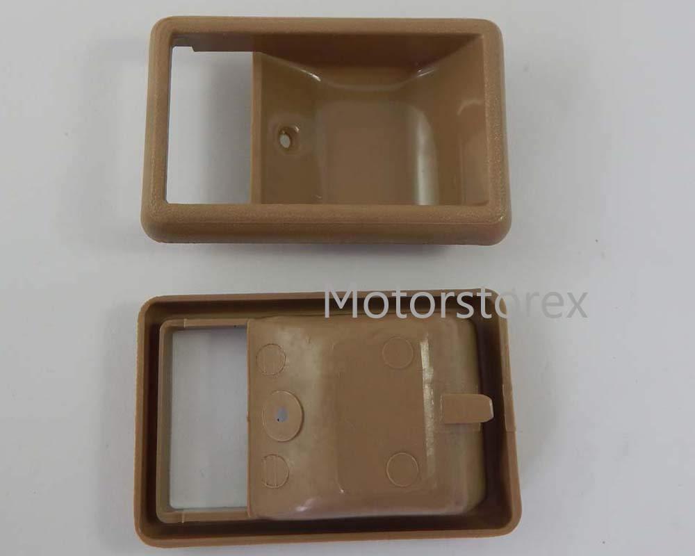 Motorstorex - Door Inner Handle Bezel Tan for Toyota Hilux 4Runner RN50 60 65 Pickup Truck