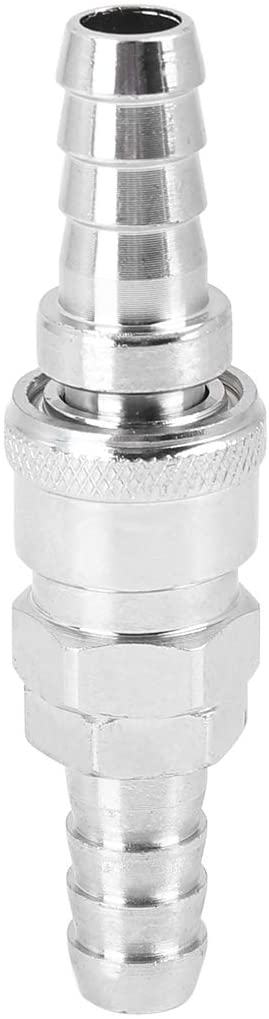 X AUTOHAUX Silver Tone Pneumatic Connector Air Hose Fitting Male and Female Coupler Kit for 12mm ID PU Tube for Car