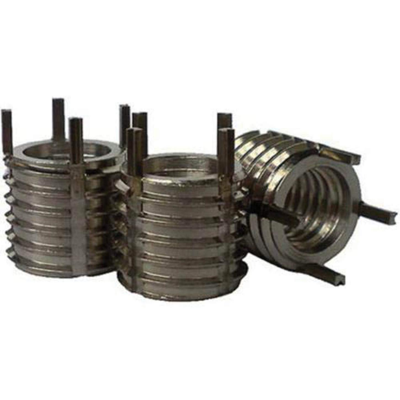 Recoil 75057 Heavy-Duty Key Locking Insert, Internal M5 x 0.8, Class 6H, External M10 x 1.25, Class 6G, 303 SST W/ 302