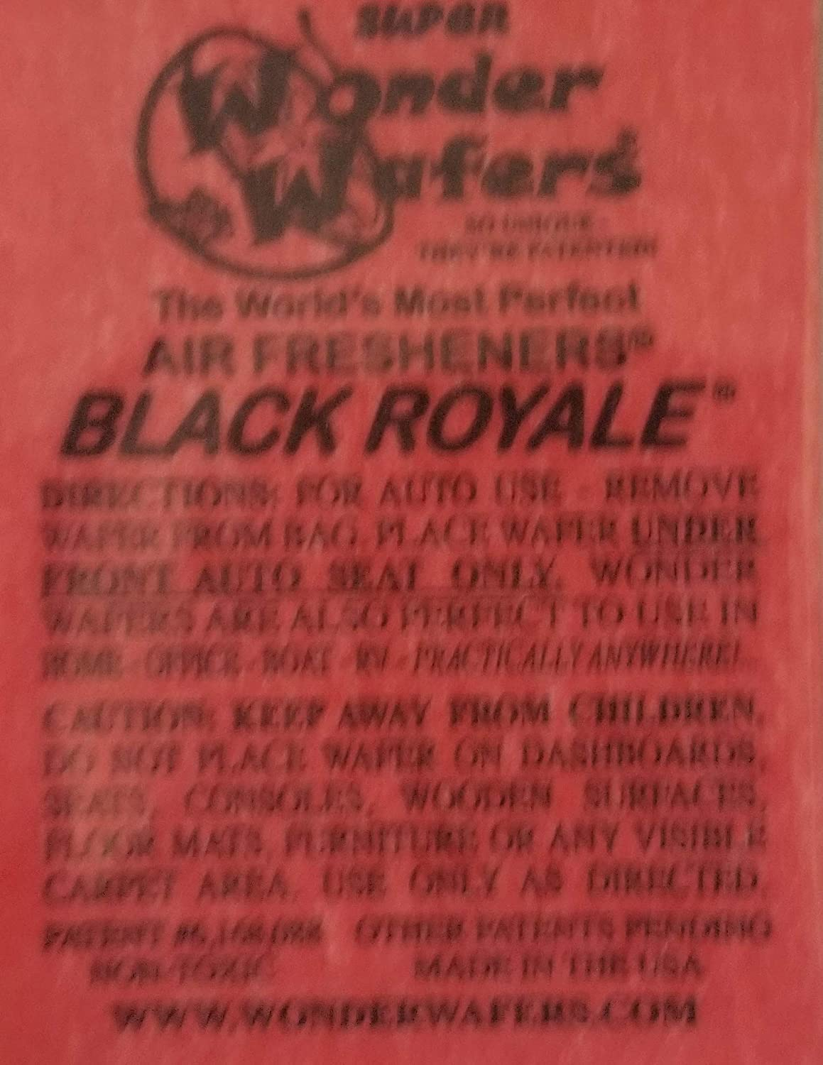 Wonder Wafers 25 CT Individually Wrapped Black Royale Air Fresheners