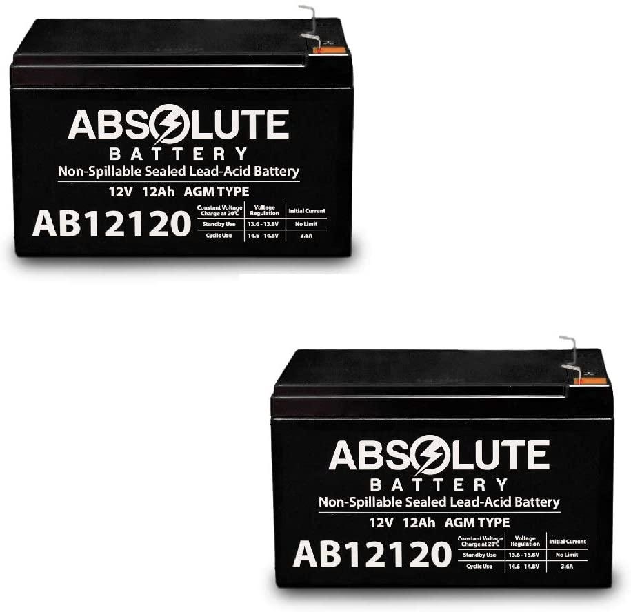 2 Pack 12V 12AH F2 UPS Battery Replaces Yuasa REC12-12 REC 12-12 .25 Terminal