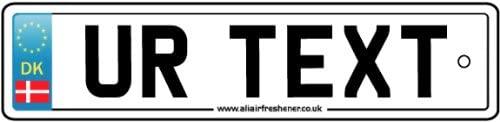 Personalized Denmark Numberplate Car Air Freshener