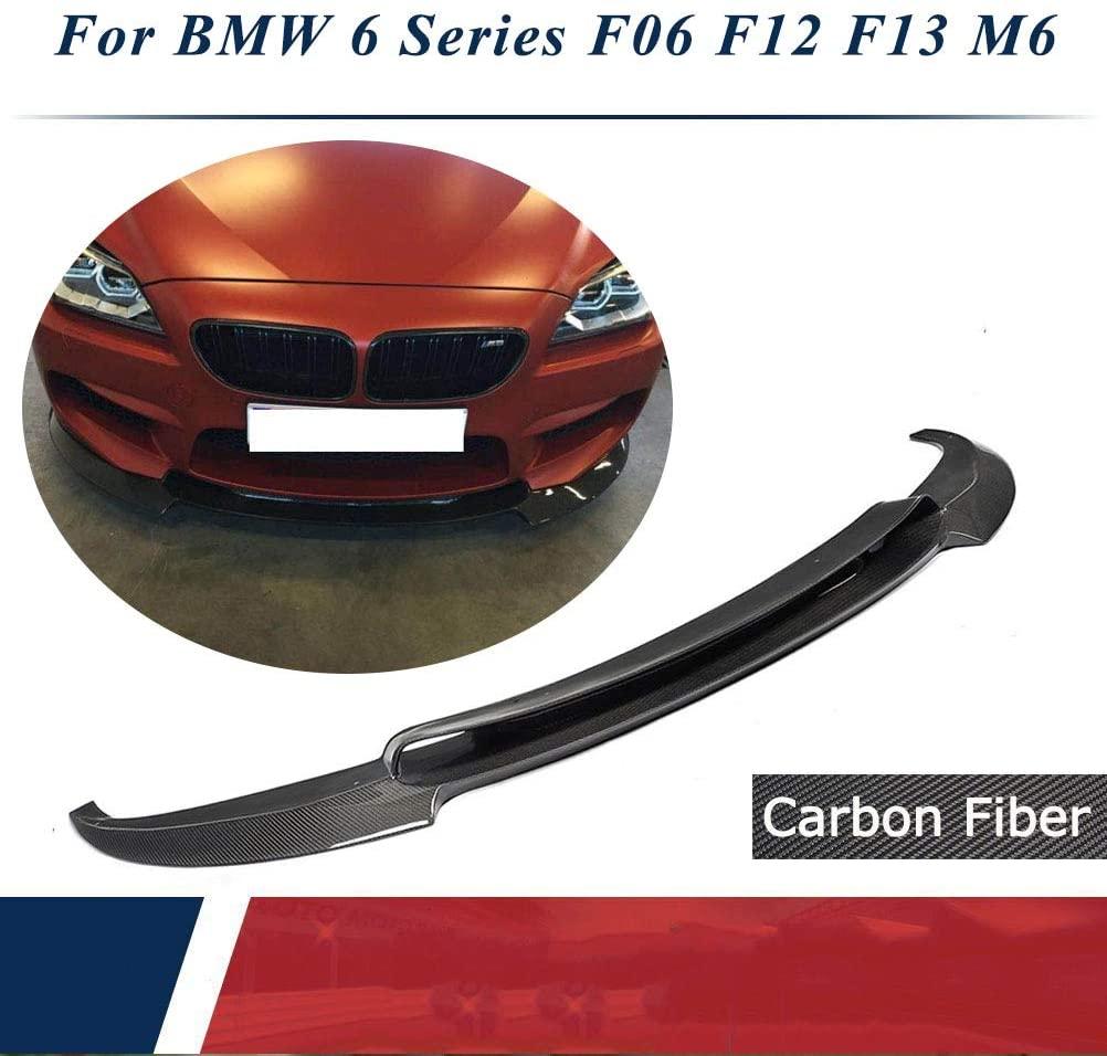 JC SPORTLINE fits BMW 6 Series F06 F12 F13 M6 Bumper 2014-2017 Carbon Fiber Front Chin Spoiler