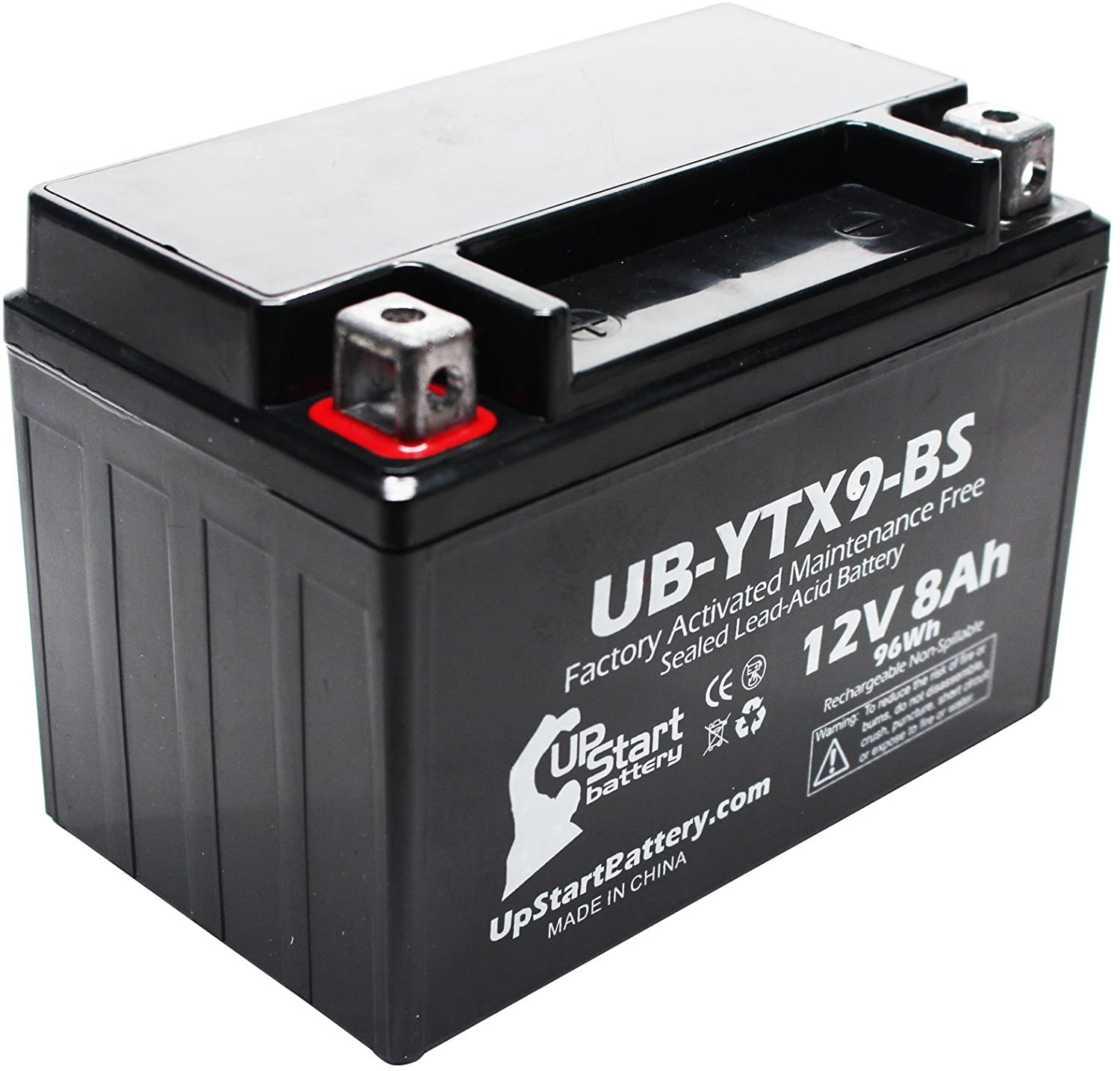 Replacement for 2006 Polaris Predator 500 500CC Factory Activated, Maintenance Free, ATV Battery - 12V, 8Ah, UB-YTX9-BS