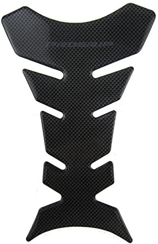 3D Carbon Fiber Look Motorcycle Sport Tank Gas Protector Pad Sticker Universal Fit 1Piece.