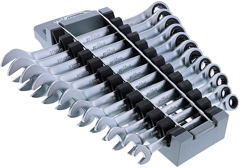 12 Piece Combination Ratchet Wrench Set - Metric