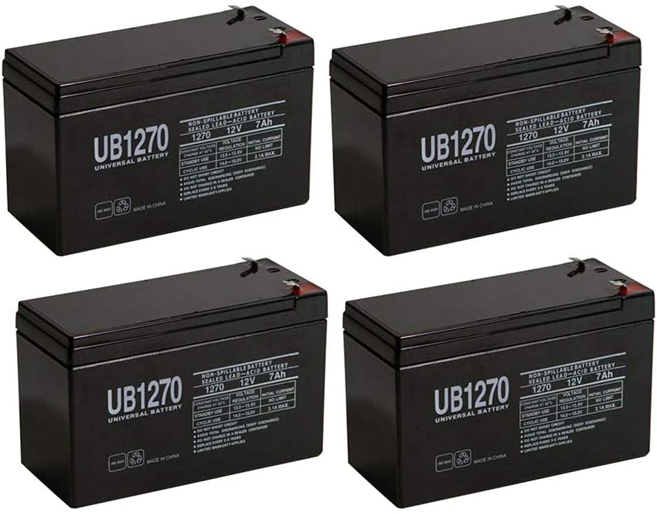 Universal Power Group Fenton Technologies POWERON H6000 Replacement Battery 12V 7Ah - 4 Pack