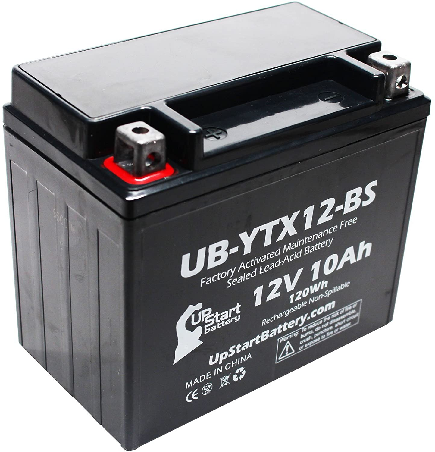 Replacement for 1988 Honda TRX200SX FourTrax 200 CC Factory Activated, Maintenance Free, ATV Battery - 12V, 10Ah, UB-YTX12-BS
