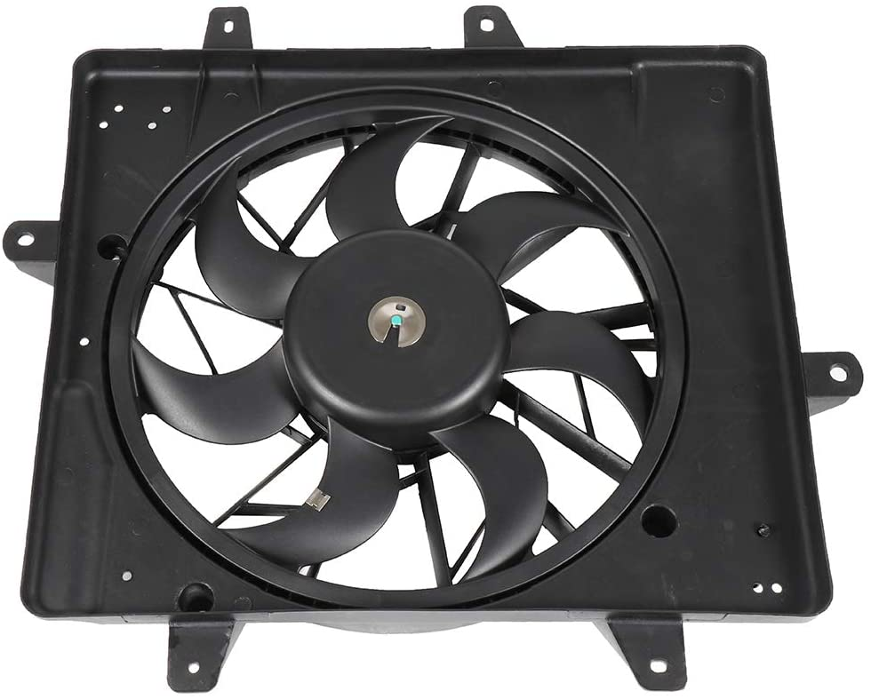 LUJUNTEC Radiator Condenser Cooling Fan compatible with 2001-2008 Chrysler PT Cruiser