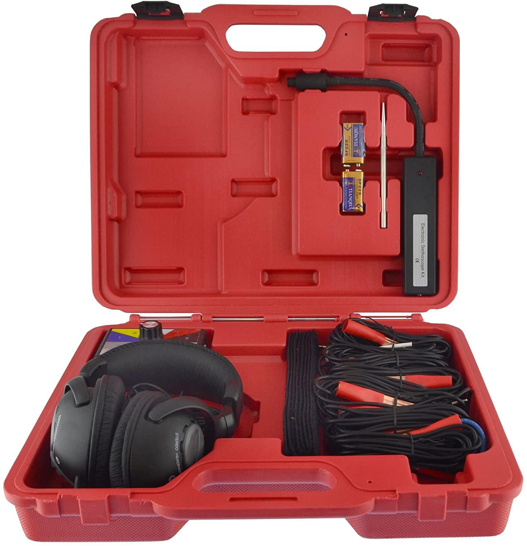 AB Tools-Neilsen Electronic Stethoscope Kit Engine Gearbox Radiator Fault Detector Diagnostics Tool