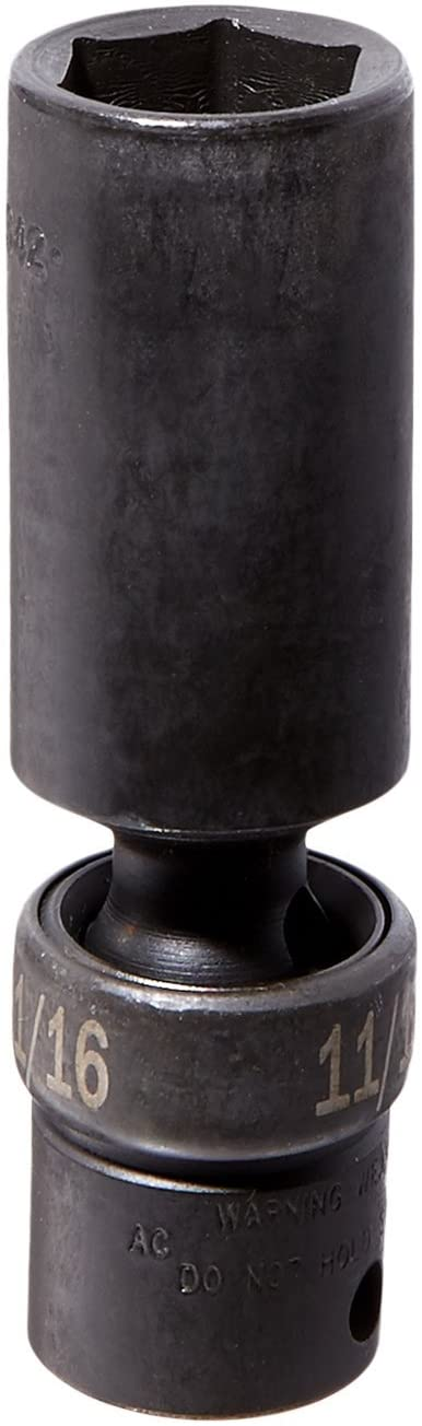 SK Hand Tool 33342 3/8-Inch Drive Flex Deep Impact Socket, 11/16-Inch