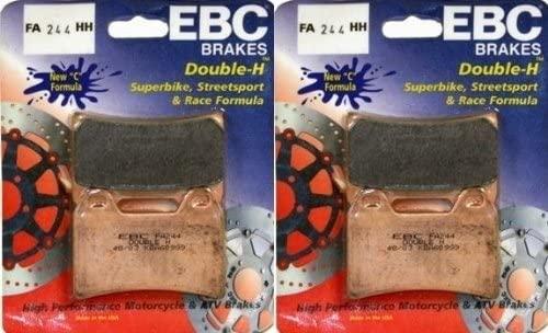 EBC Sintered Double H Front Brake Pads (2 Sets) 2004-2005 Aprilia Tuono 1000 R / FA244HH Street Pads