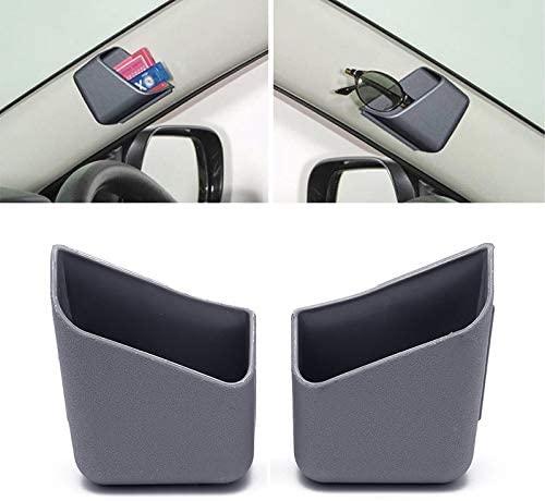 AKDSteel 2Pcs/Set Universal Car Auto Accessories Glasses Organizer Storage Box Holder Gray