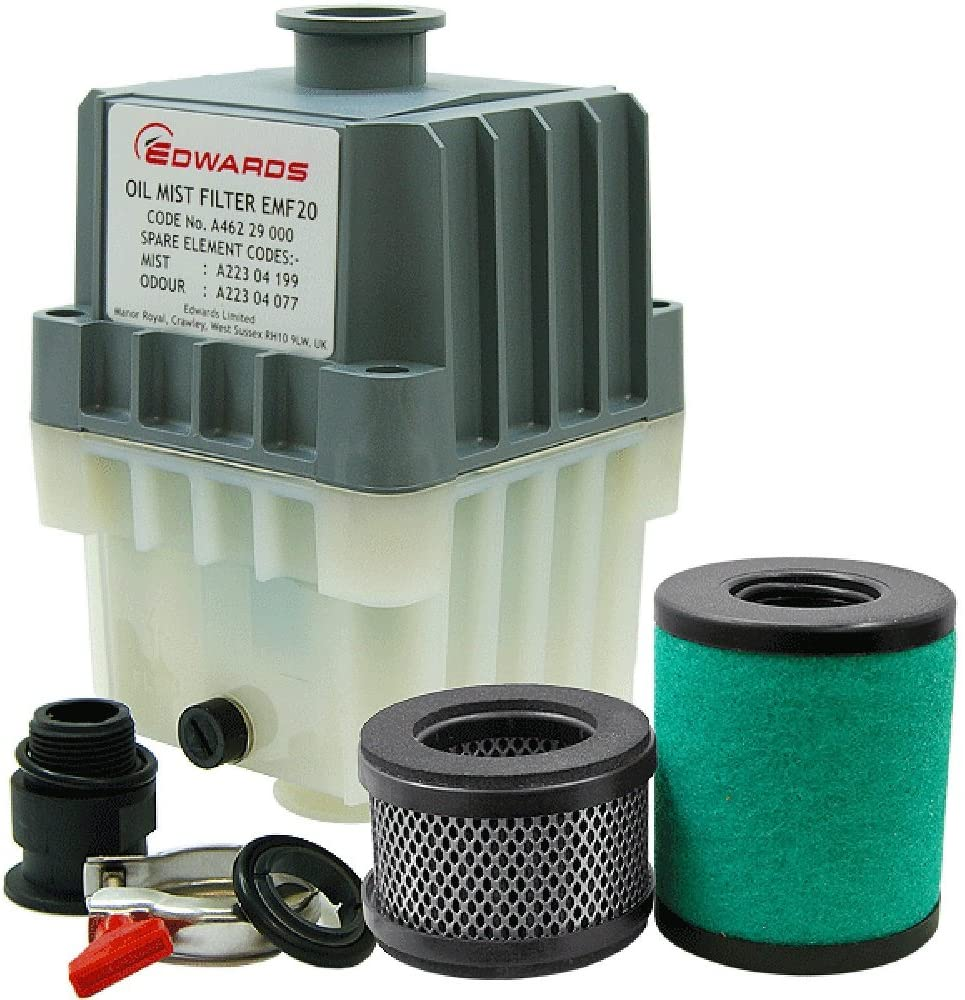 Edwards EMF20 Oil Mist Filter, KF25 Ports, for RV12, E1M18, E2M18 Vacuum Pumps, A462-29-000