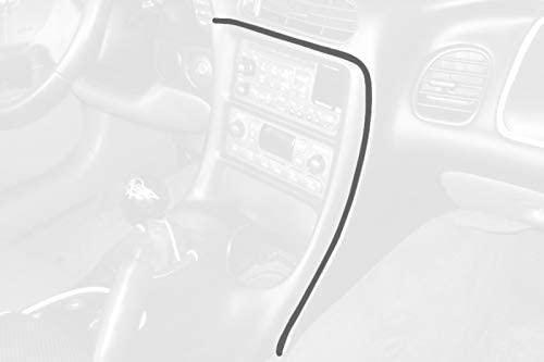 RedlineGoods Tira de Radio Compatible with Chevrolet Corvette C5 1997-04. Alcantara Negra Costura ROJA