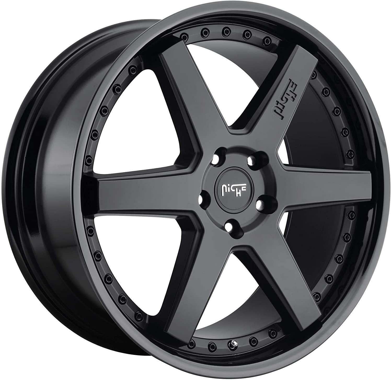 Deal on Wheels Niche 1PC ALTAIR Gloss Black Matte Black ALTAIR 18x8.5 5x120.00 Gloss Black Matte Black (35 mm)