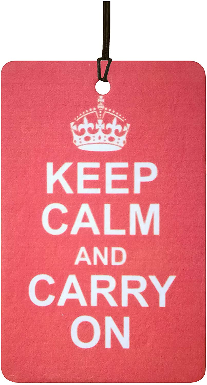 Keep Calm and Carry On Car Air Freshener