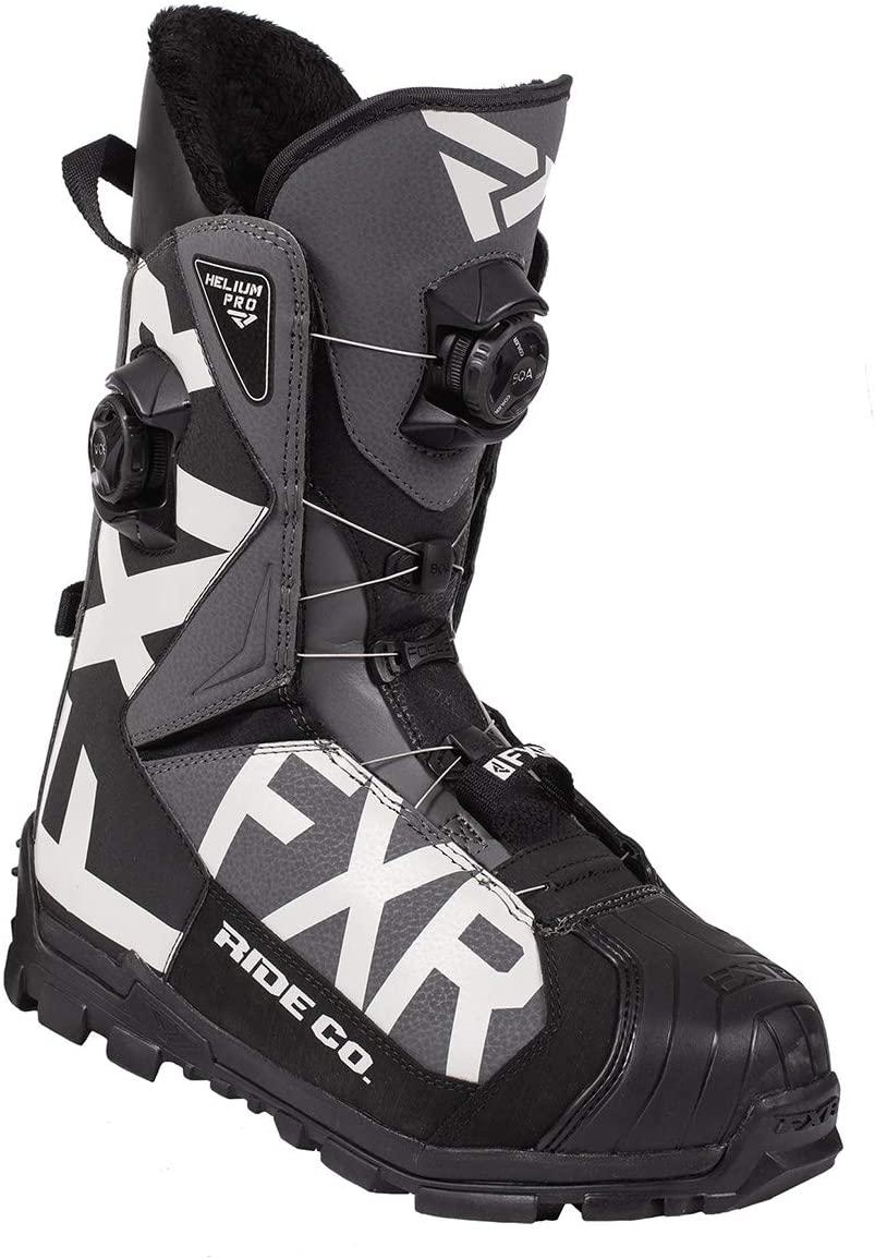 FXR Helium Pro BOA Boot 2020 (Black/Charcoal/Light Gray - Men's 11/EU 45)