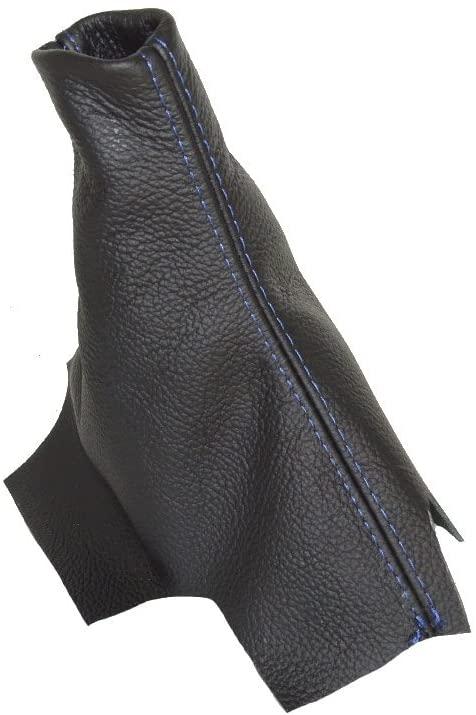For Honda Civic Sedan 2012-15 Shift Boot Leather Blue Stitching