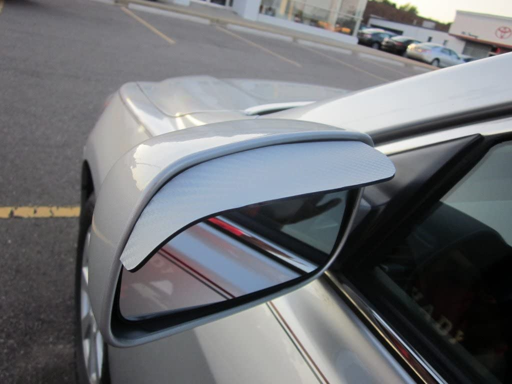 2001-2005 MERCEDES BENZ C240 C 240 SILVER CARBON FIBER SIDE MIRROR VISOR RAIN GUARDS 2002 2003 2004 01 02 03 04 05 MERCEDES-BENZ W203