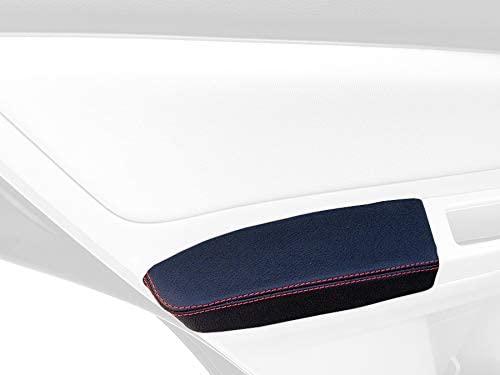 RedlineGoods cubierta de apoyabrazos lateral posterior Compatible with Subaru Impreza 2011-16. Cuero GRIS Costura Negra