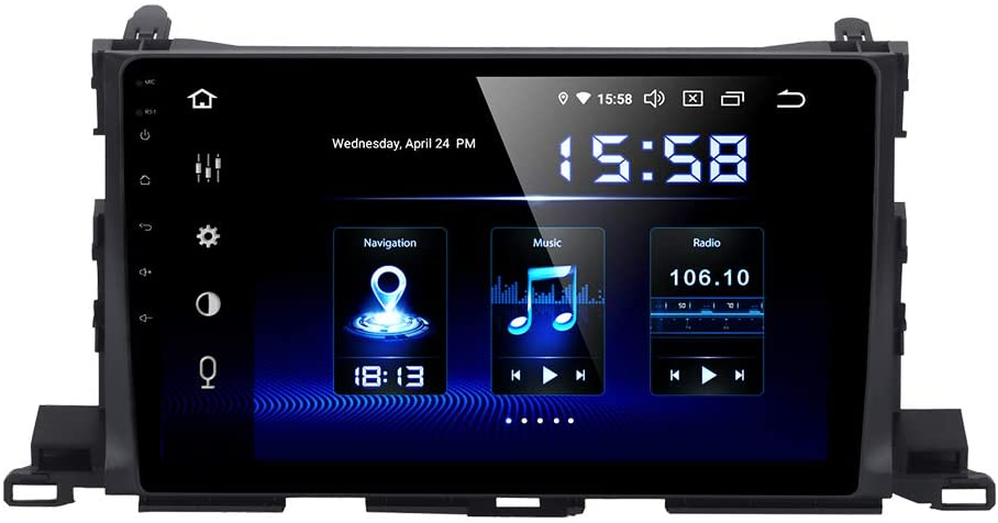 Dasaita 10.2 inch Touch Screen 1din Android 9.0 Car HeadUnit for Toyota Highlander Radio GPS DSP System 4G Ram 64G ROM Stereo Bluetooth 5.0 15Band EQ Navigation Multimedia