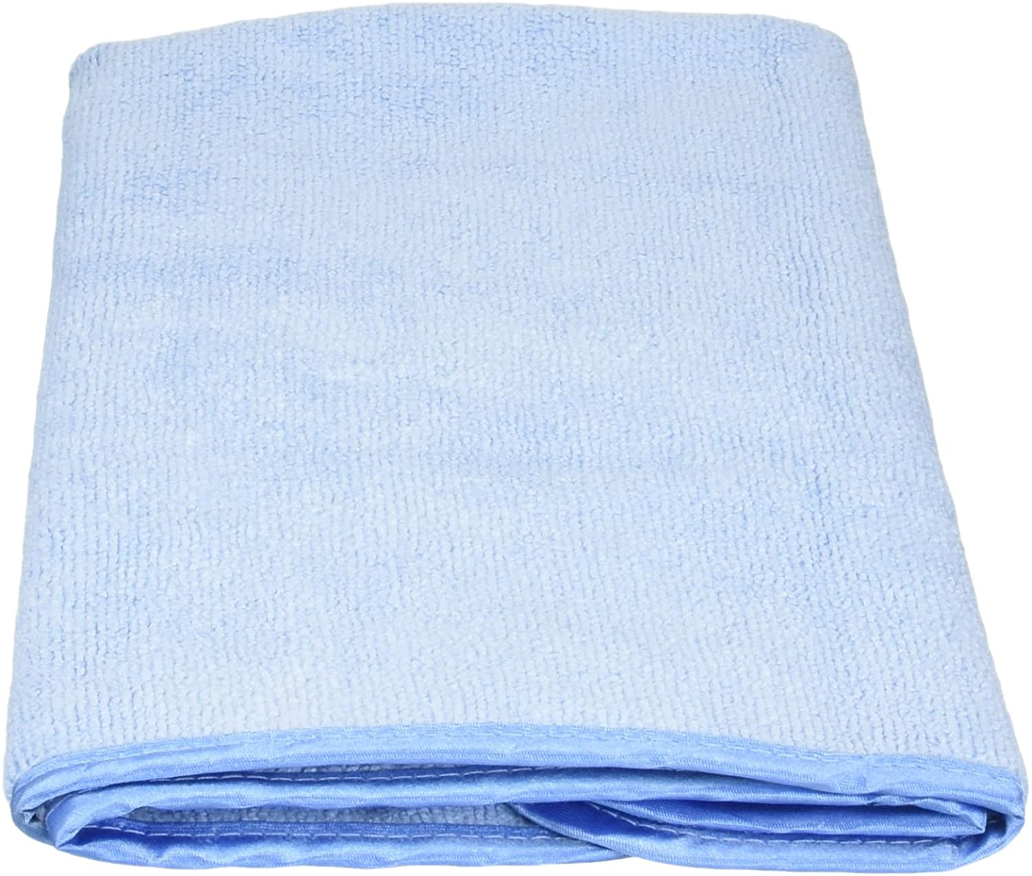SM Arnold m Arnold Heavy Plush Cleaning Towel with Piped Edging, Large, Blue
