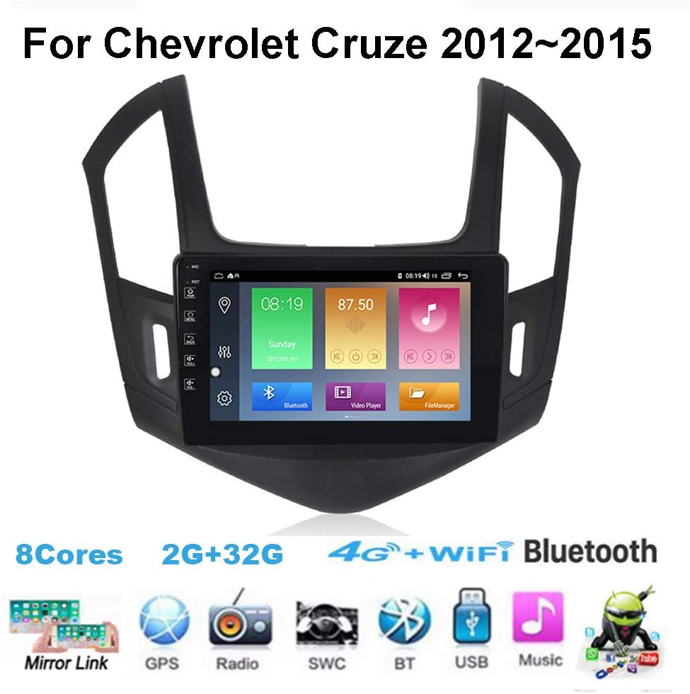 Yuahwyehe Car Stereo Auto for Chevrolet Cruze 2013-2015 Radio 9 Inch Touch Screen GPS Navigation Head Unit Support Full RCA Output Bluetooth4.0 WiFi Car Auto Play DVR DAB+ TPMS