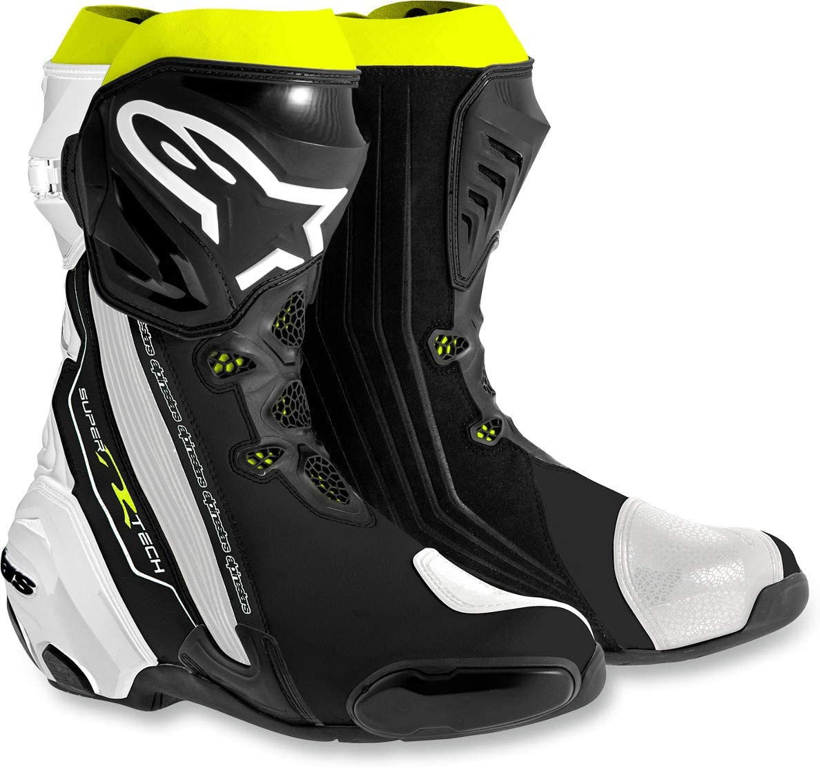 Alpinestars Men's 2220015-158-45 Boots Black/White/Yellow Size 45