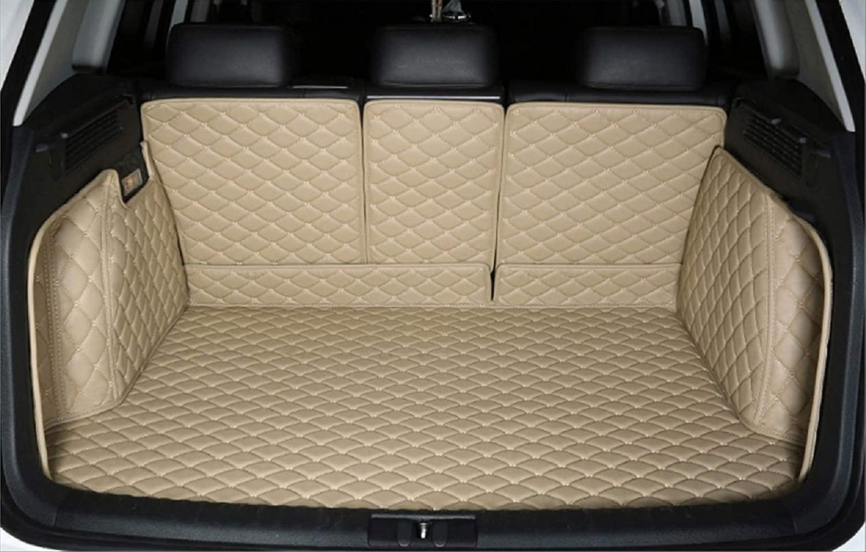 Bonus-Mats Custom Fit All-Weather Full Coverage Waterproof Car Cargo Liner Trunk Mat for BMW X5 2014-2018 5 Seats Beige