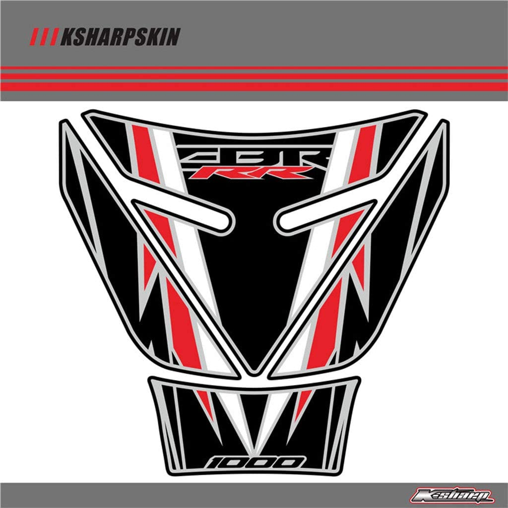 Motorcycle 3D Sticker Decal Emblem Protection Tank Pad Cas Cap Fit for Honda CBR1000RR (Type G)
