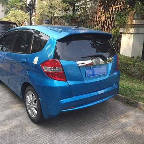 DZWLYX Fit for Honda Jazz Fit Spoiler ABS Material Car Rear Wing Primer Color Rear Spoiler Fit for Honda Fit B Spoiler 2008-2013,Car Spoiler Wing Carbon Fiber Spoiler (Color : Blue)
