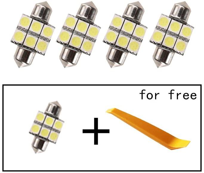 Car Led Bulbs Led Interior Lights Car Led Lights 31mm 6LED 5050SMD White 4pcs