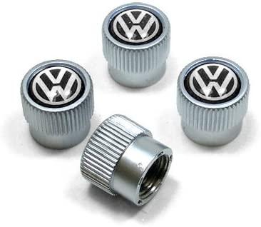 hongyangfumeilai HYFML Zinc Alloy Tire Valve Caps for Volkswagen (Black Logo)