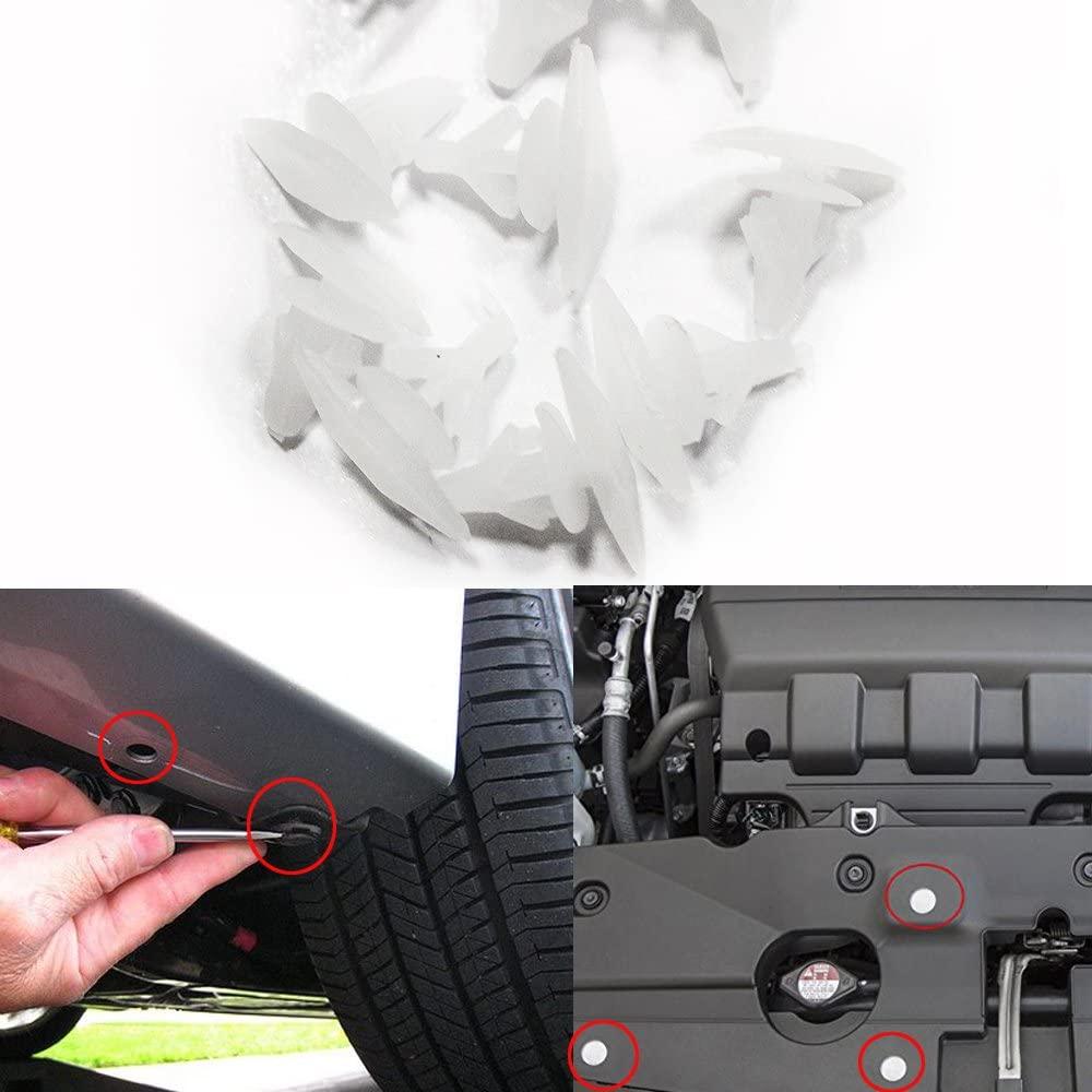 For Honda Fastener Rivet auto push pin rivets Push Type Retainer Clips 50Pcs