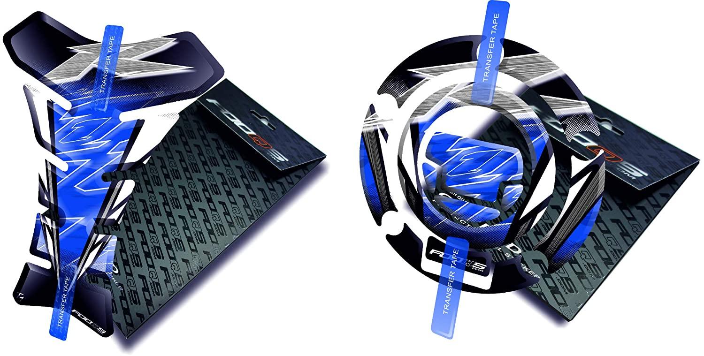 Fooqs Tankpad and Cappad for Yamaha YzfR1 YZF R1 (Blue)