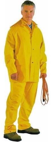 DiamondBack Unisex-Adult Rain Suit (Yellow, Large)