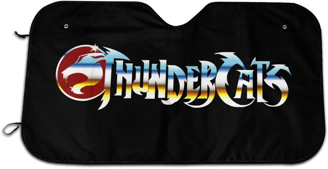 Narukrstore Car Windshield Sun Shade Thundercats Animated Series Uv Rays Sun Visor Protector 27.5 X 51 in