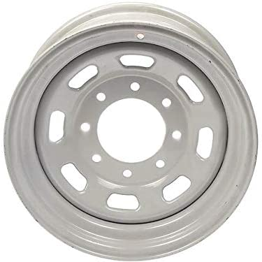 Steel Wheel - 16 Inch - 8 Cut-Outs - Silver - Compatible with 1999-2004 Ford F250 Super Duty