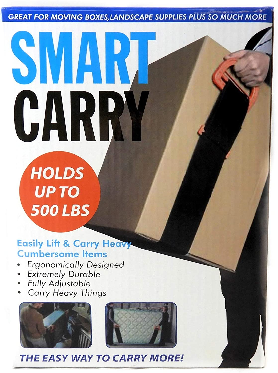 Smart Carry Moving Straps Easily Lift and Carry Heavy Items Holds Up to 500 LBS