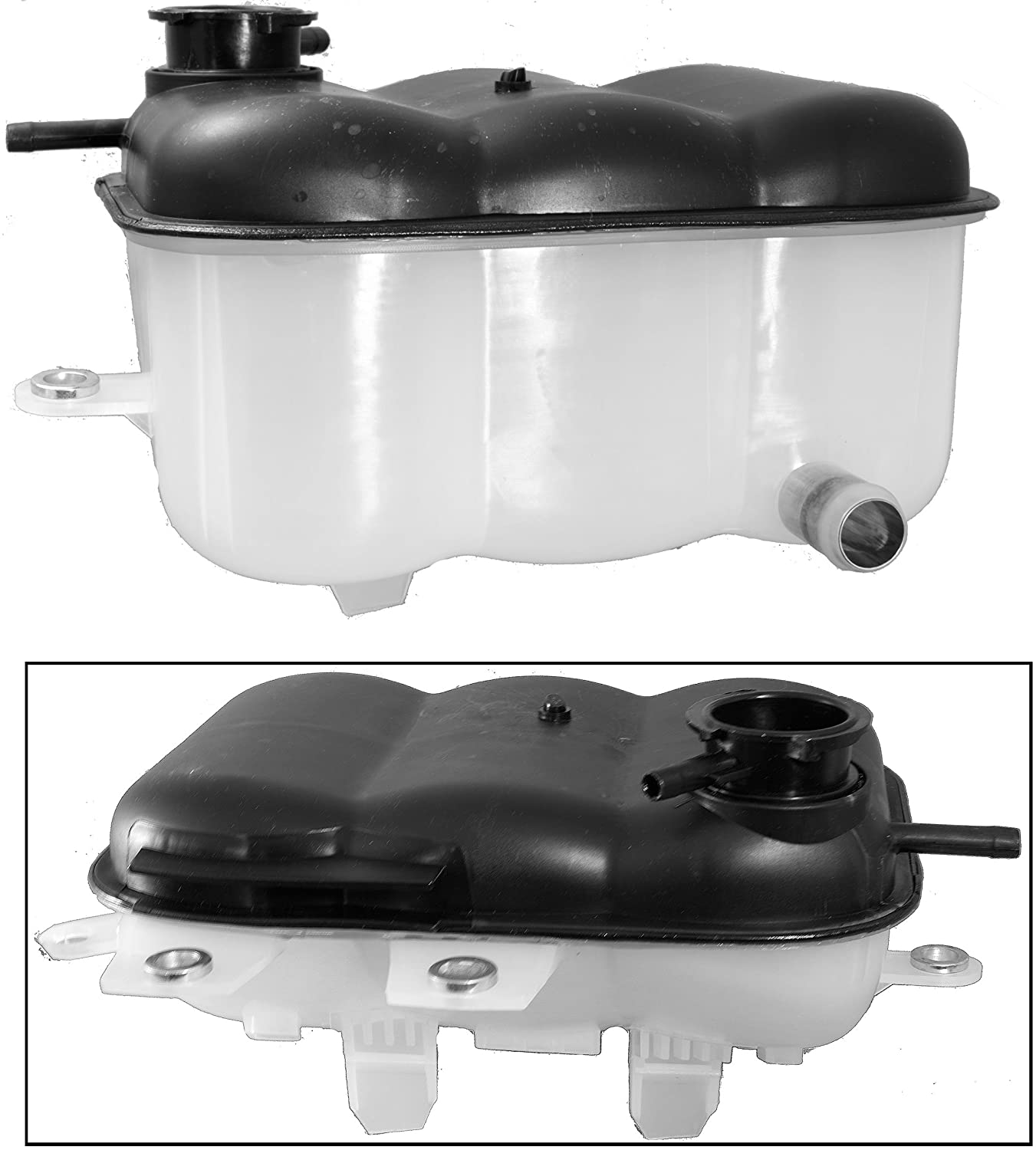APDTY 5072602AB Replacement Coolant Fluid Reservoir Plastic Bottle Replacement For 2002-2003 Dodge Ram 1500 Pickup 2003 Ram 2500 3500 (Gasoline Engines; Replaces 5072602AB, 05072602AB, 5072602AA)