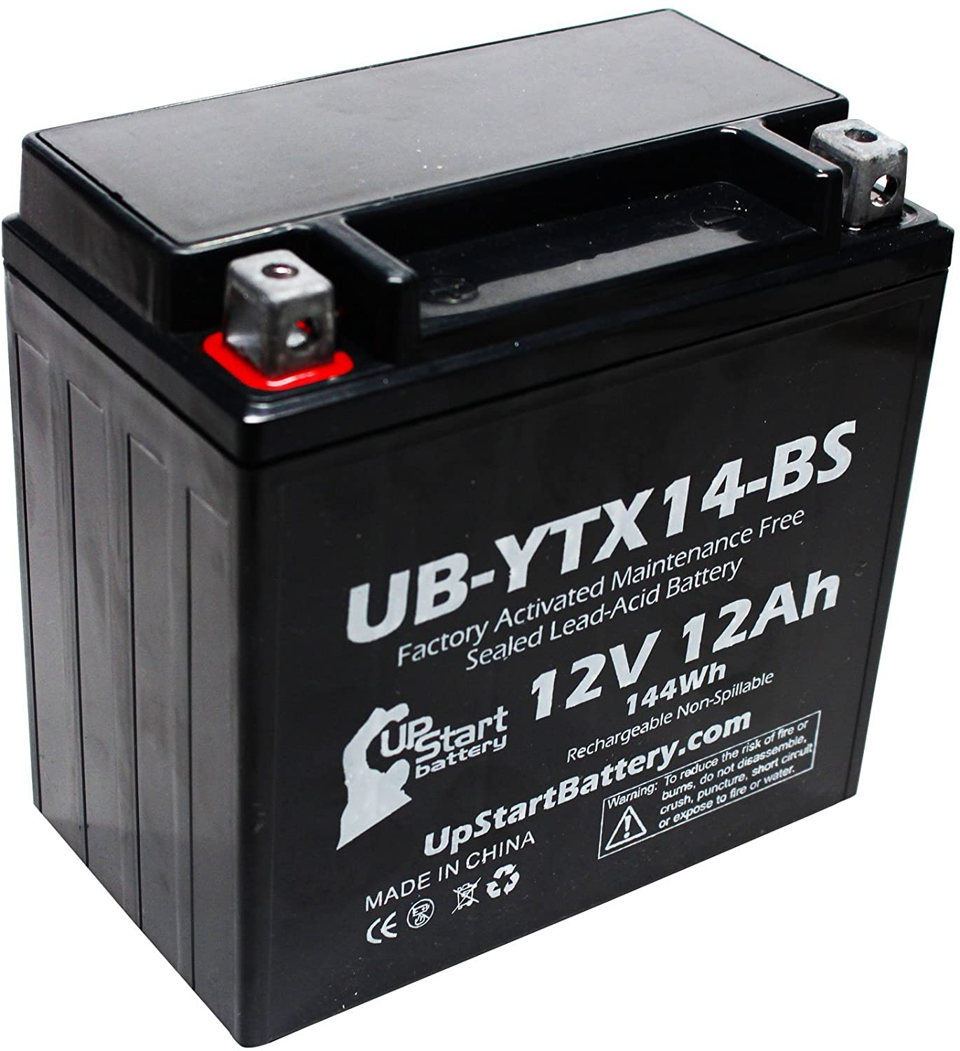 Replacement for 2004 Honda TRX400 Rancher AT 400 CC Factory Activated, Maintenance Free, ATV Battery - 12V, 12AH, UB-YTX14-BS