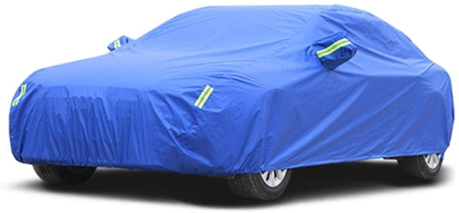 LIUFS Compatible with Nissan Micra Car Cover Sun Protection Rain Cover Car Cloth Car Cover Car Cover (Color : Blue, Size : Single Layer)