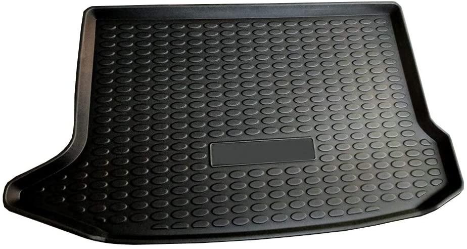 Cqlights Kona Cargo Liner for Hyundai Kona 2018 2019 2020 Trunk Liner Tray Heavy Duty Rubber Rear Cargo Area Mat Waterproof Protector Floor Mat Black