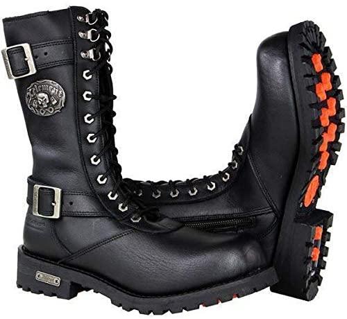 Xelement X19409 'Fury' Men's Black Performance Leather Boots - 10.5