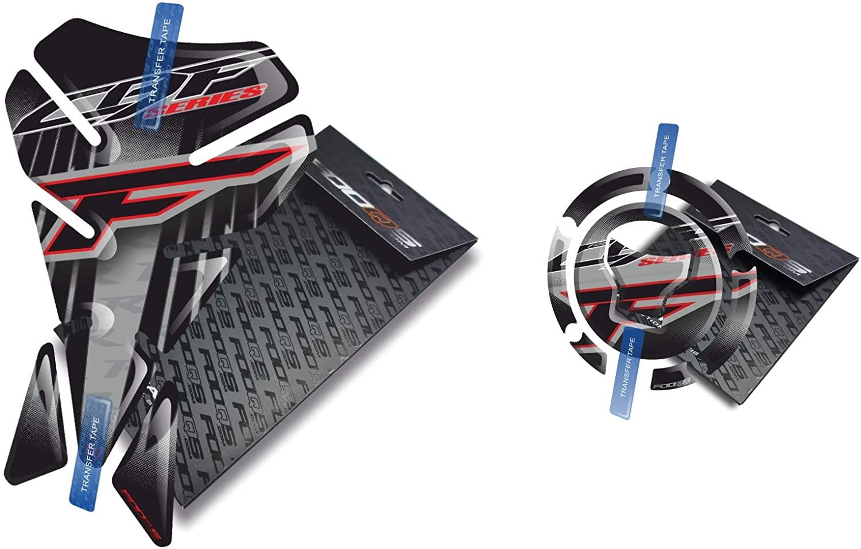 Fooqs Tankpad and Cappad V1 for Honda CBF 500, 600, 650, 900, 1000 New Model (Silver)