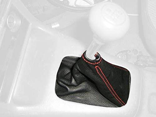 RedlineGoods bota/funda para palanca de cambios Compatible with Toyota Tercel 1995-97. Alcantara Negra Costura Plata