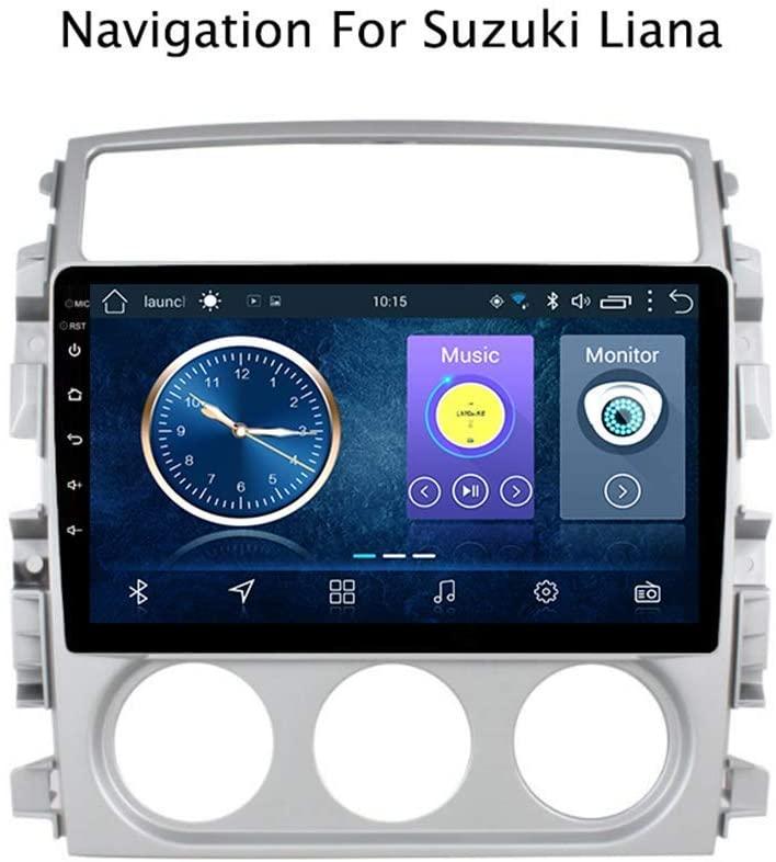 gaoweipeng for Suzuki Liana 2007-2013 Screen Car GPS Navigation System Satellite Navigator DVD Player Tracker Bluetooth WiFi Stereo Auto Radio Touch Screen (Quad CORE)